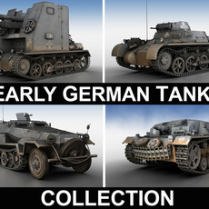 Early german WWII Tanks - Collection 3D Model