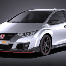 Honda Civic Type R 2016 VRAY 3D Model