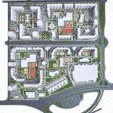 Residential Urban District 3D Model