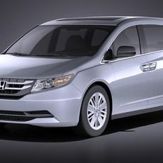 Honda Odyssey 2016 VRAY 3D Model