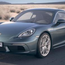 Porsche 718 Cayman 2017 DesertStudio 3D Model