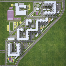 Residential Urban Area District 3D Model