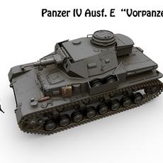 Panzer IV Ausf E  Vorpanzer 3D Model