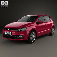 Volkswagen Polo 5-door 2014 3D Model