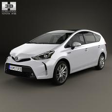 Toyota Prius Plus 2015 3D Model