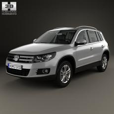 Volkswagen Tiguan Sport & Style with HQ interior 2012 3D Model