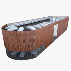 Multistory Parking Garage 3D Model