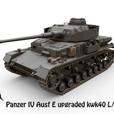 Panzer IV Ausf E KwK40 L48 3D Model