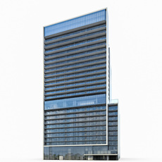 High-rise Commercial Building 3D Model