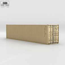 Shipping Container 40' HC 3D Model