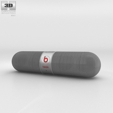 Beats Pill 2.0 Wireless Speaker Silver 3D Model