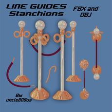 LineGuides_Stanchions FBX OBJ 3D Model