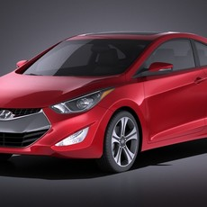 Hyundai Elantra Coupe 2016 3D Model