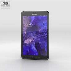 Samsung Galaxy Tab Active Titanium Green 3D Model