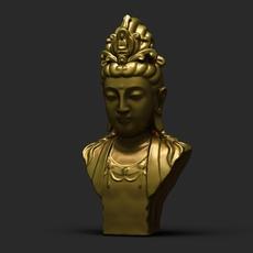 Bodhisattva Statue 01 3D Model