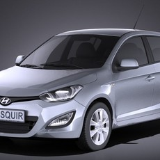 Hyundai  I20 5door 2014 VRAY 3D Model