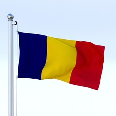 Animated Chad Flag 3D Model