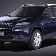 Jeep Cherokee Limited 2016 VRAY 3D Model
