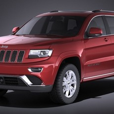 Jeep Grand Cherokee 2016 VRAY 3D Model