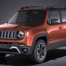 Jeep Renegade 2017 VRAY 3D Model