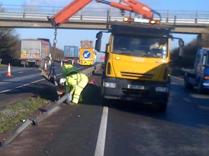 A34 barrier repairs