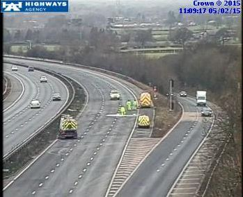 M6 J16-J15 clean up work