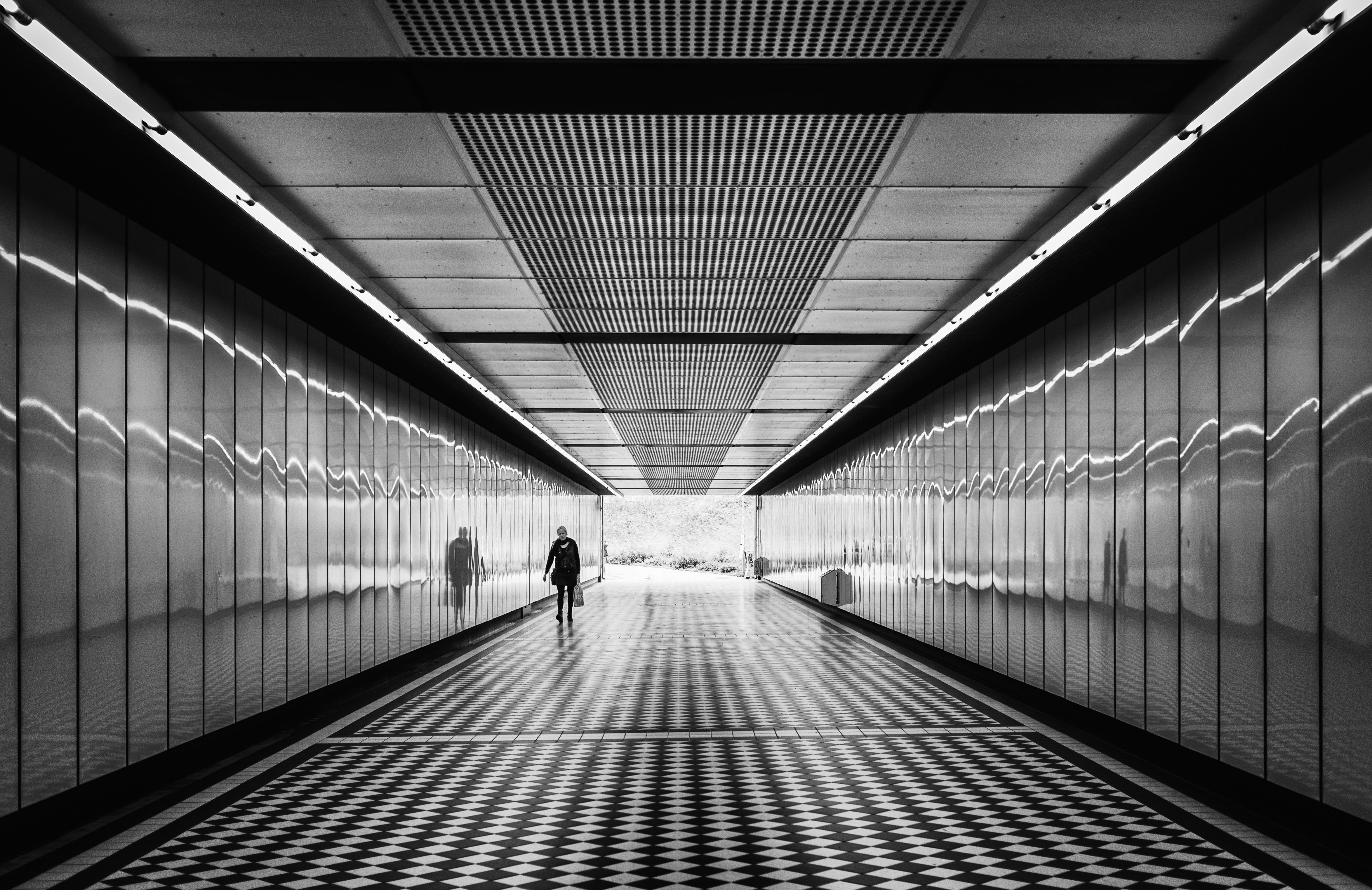 Along the corridor