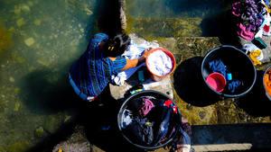 Laundry Day, Lake Atitlan, Guatemala