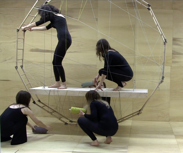 Weavers in the Floating Frame of Progressive Action – The Fates of Melbourne (Group 1), production still, 2011.