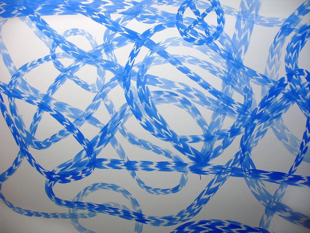 WORKS Stream Spectacle (Blue), oil on panel, 2400 x 1200 mm, 2010