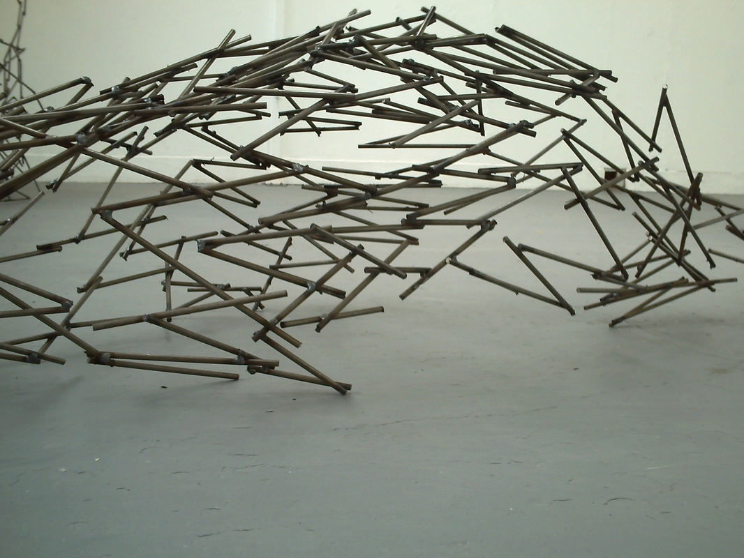 WORKS Every Straight Has a Double Crook (River), welded metal, 1100mm x 800mm x 600mm, 2010.