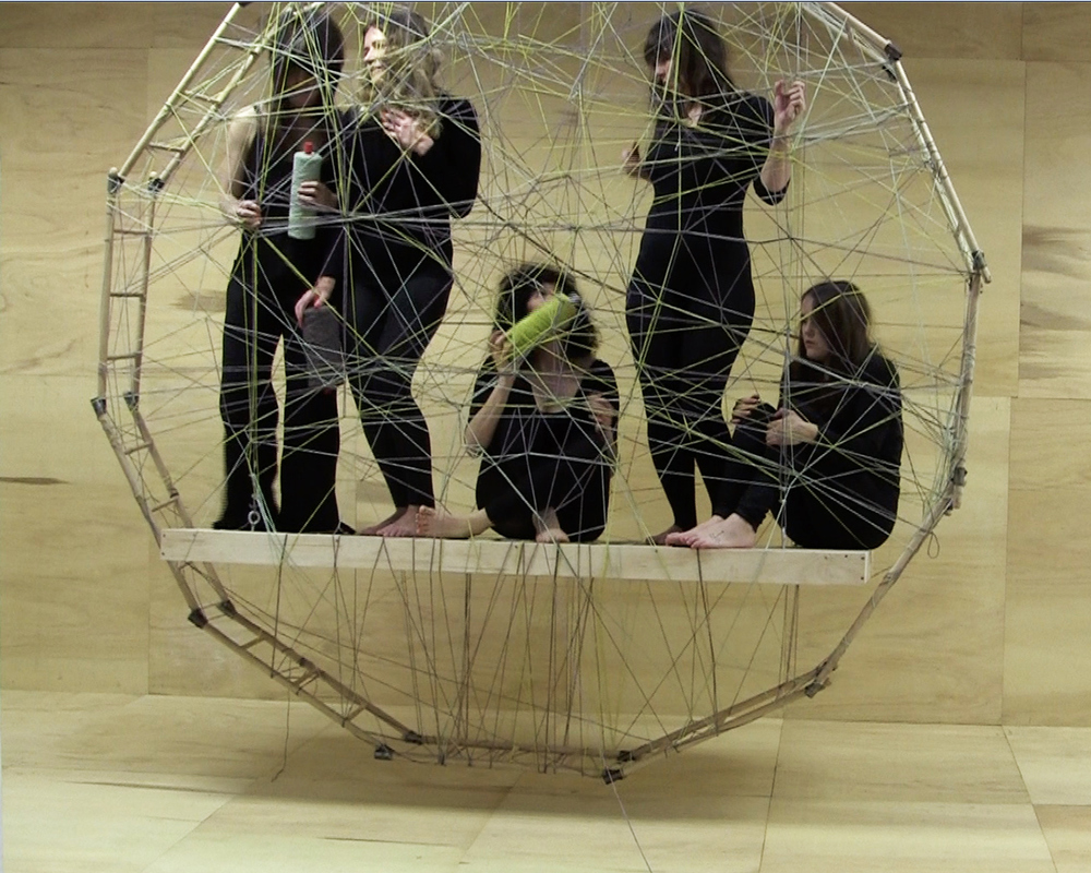 WORKS Weavers in the Floating Frame of Progressive Action – The Fates of Melbourne (Group 1), production still, 2011.