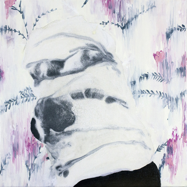 Alex Callender Painting milk paint and oil on canvas