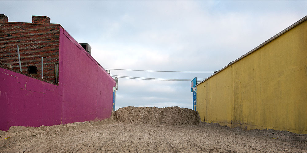 Seaside Heights: Before & After Sand Barricade