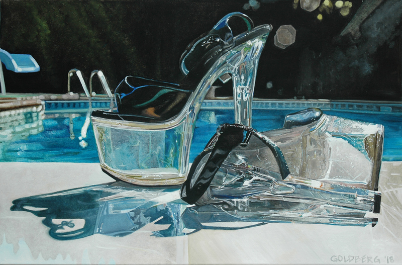 ANN GOLDBERG Shoes Oil on canvas