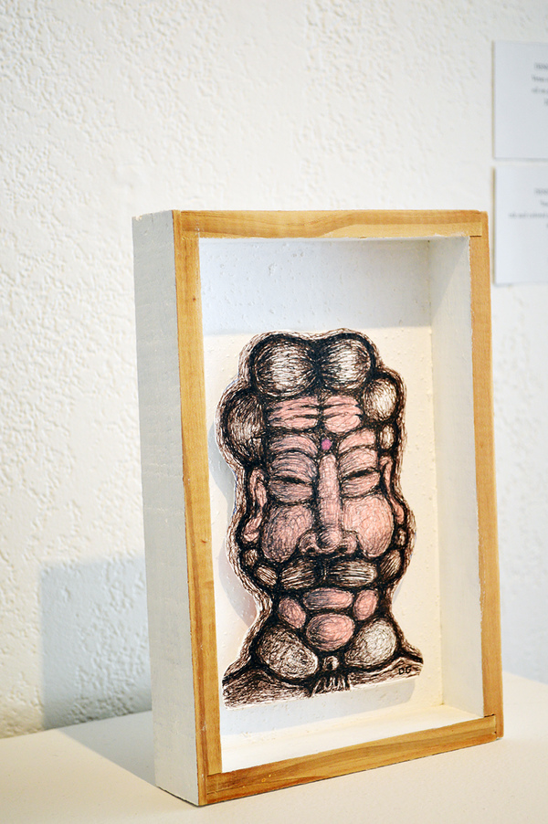 ARTicles Art Gallery Denis Gaston ink & color pencil on paper cut-out