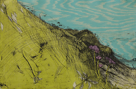 ARTicles Art Gallery Helen Gotlib woodblock and intaglio printing on cream BFK Rives paper