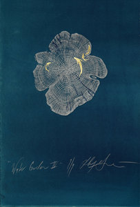 ARTicles Art Gallery Helen Gotlib woodblock, intaglio, and gold leaf on painted paper