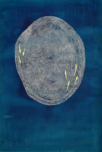 ARTicles Art Gallery Helen Gotlib woodblock printing and gold leaf on hand-dyed paper