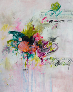 ARTicles Art Gallery Davina Shefet acrylic, ink and oil pastel on canvas