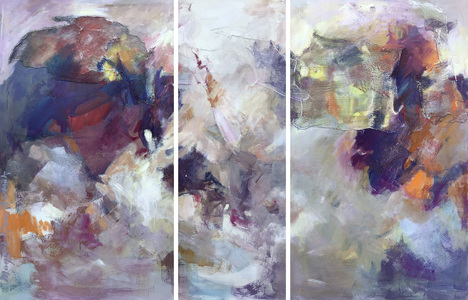 ARTicles Art Gallery Consignment acrylic on canvas (triptych)