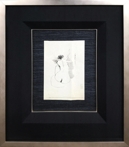 ARTicles Art Gallery Jack Barrett ink on paper (framed)