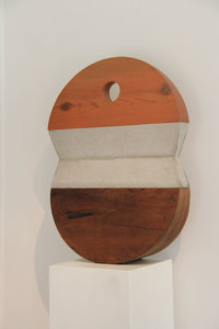 ARTicles Art Gallery Charles Parkhill stained wood and concrete