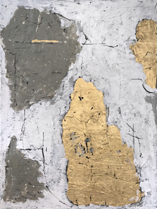 ARTicles Art Gallery Terry Brett acrylic and gold leaf on textured canvas
