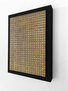 ARTicles Art Gallery Irina Moldovan pure palladium, 24k gold, composite metal leaf, & acrylic on board