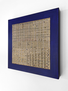 ARTicles Art Gallery Irina Moldovan pure palladium, 24k gold, composite metal leaf, & acrylic on canvas