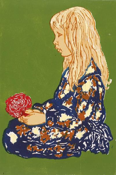 Babette Katz Childhood woodcut