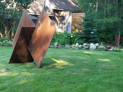 BACKROADS GALLERY & SCULPTURE GARDEN Current Exhibition Rusted steel