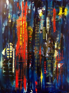 Barbara Mosher Urban Mixed Media on Gallery wrapped canvas