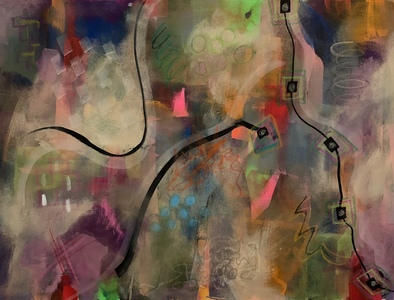 Tangled Mixed Media on canvas, unframed